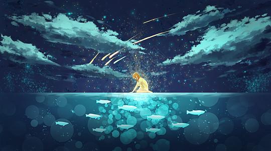 冰湖少女的交流图片