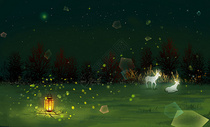 梦幻萤火虫森林图片