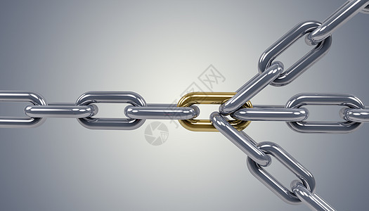 3D锁链图片