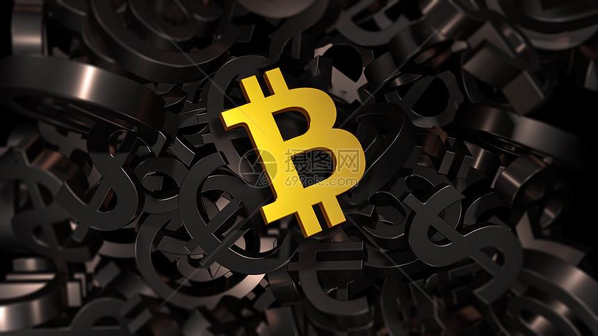 比特币背景图片