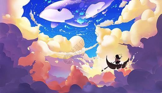 云层里的世界图片