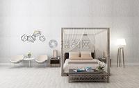 浅色色调的卧室效果图图片