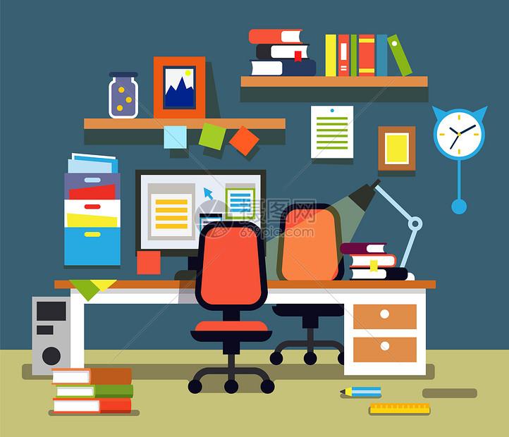 学习办公室图片