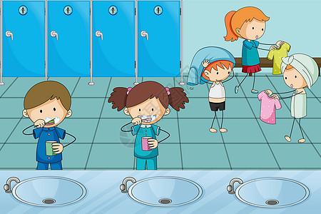 儿童集体生活图片
