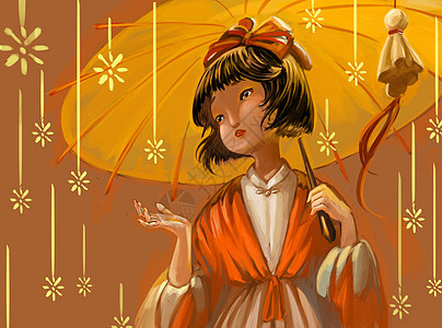 日本雨花图片