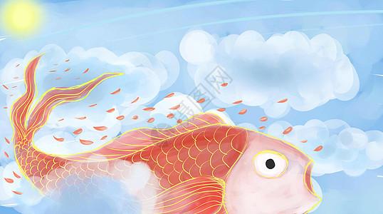 迎春锦鲤图片
