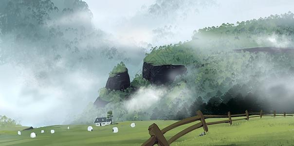 乡间风景图片