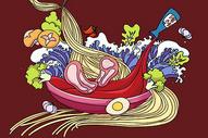 面食插画图片