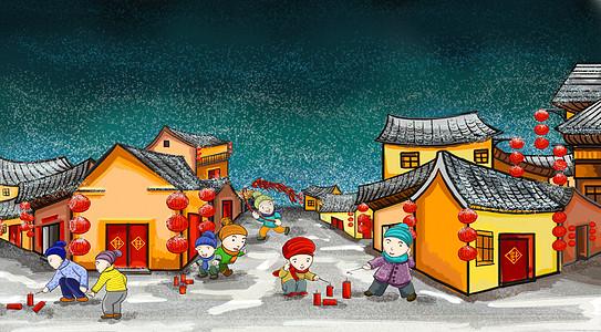 春节的鞭炮图片