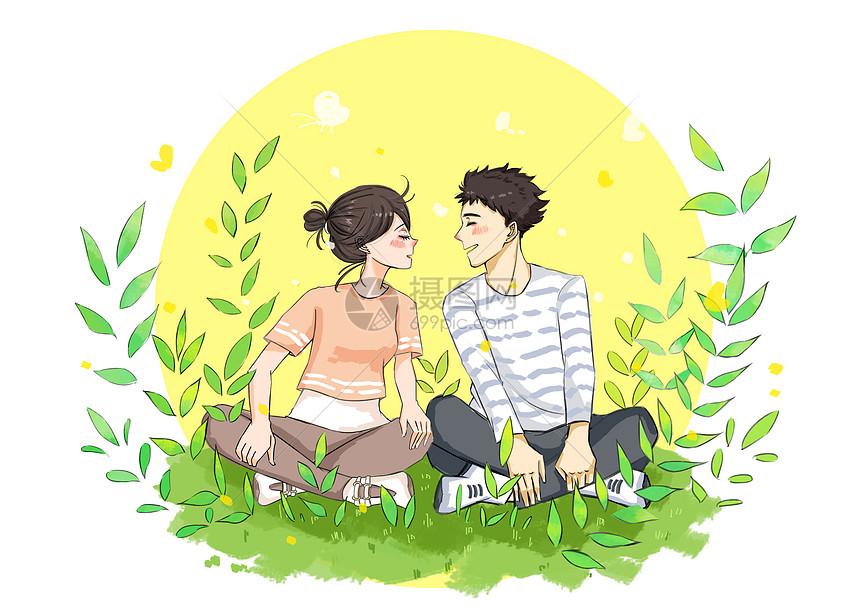 小清新唯美情侣图片