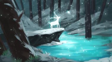 森林里的麋鹿图片