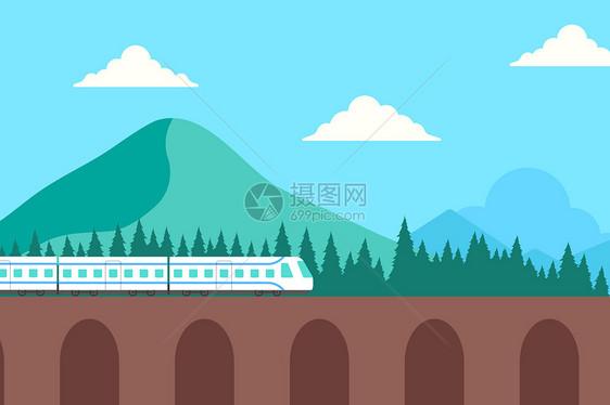 春运高铁风景图片