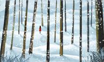冬季树林图片
