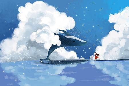 天空中鲸鱼图片