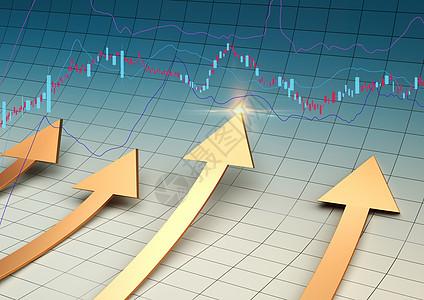 金融箭头股票背景图片