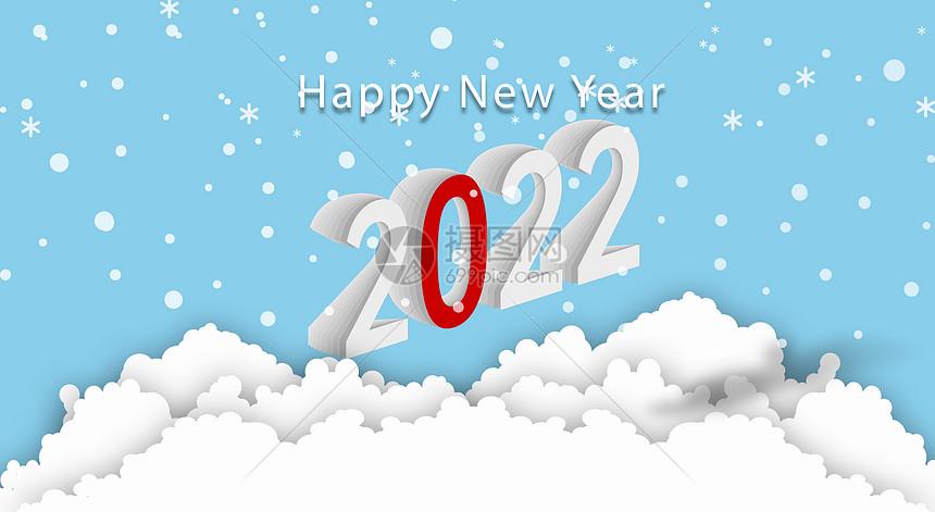 2018新年下雪背景图片