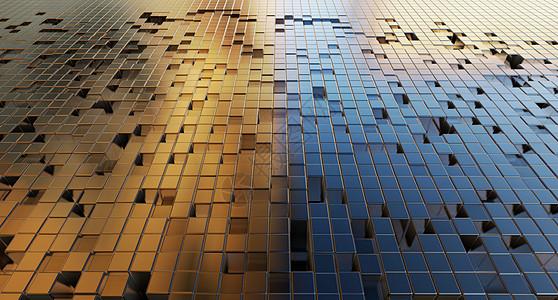 3D立体金属空间背景图片