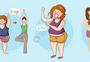 减肥对比图图片