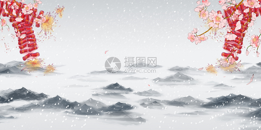 中国风新年背景图片