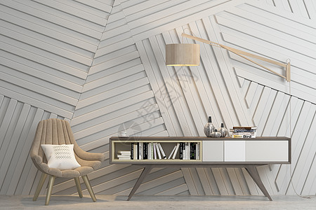 室内场景北欧风休闲椅图片