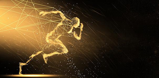 金色科技背景图图片