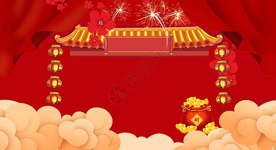 中式新年背景图片