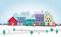 冬日街道图片