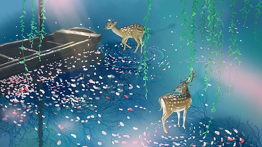 鹿与舟图片
