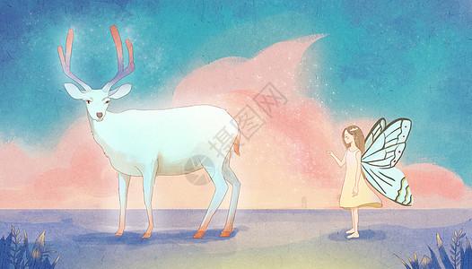 追鹿的天使图片
