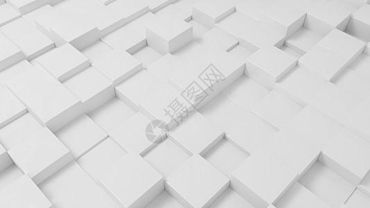 简约白色方格科技感背景素材图片