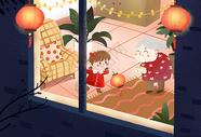 春节插画图片