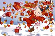 新年红包年画娃娃图片