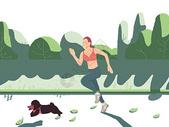 健身跑步女孩图片