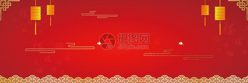 新年喜庆红色背景图片