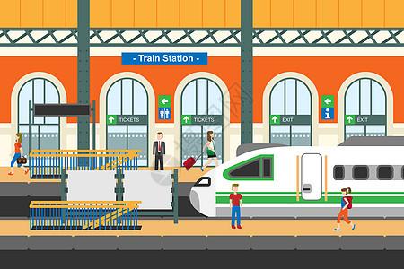 春运火车站图片