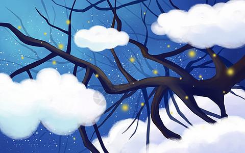 梦幻云中大树图片