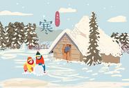 下雪的游玩图片