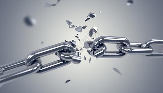 3D碎裂的锁链图片