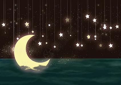 梦幻星星月亮高清图片