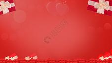 情人节红色礼物背景图片
