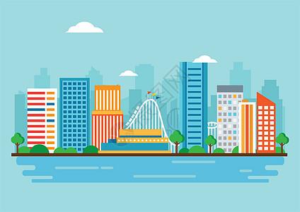 扁平城市图片