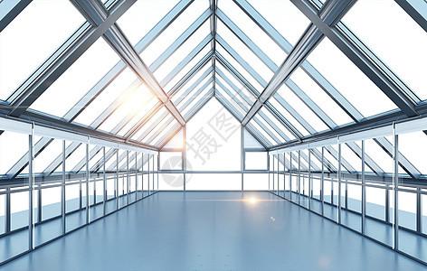 建筑几何空间感背景图片
