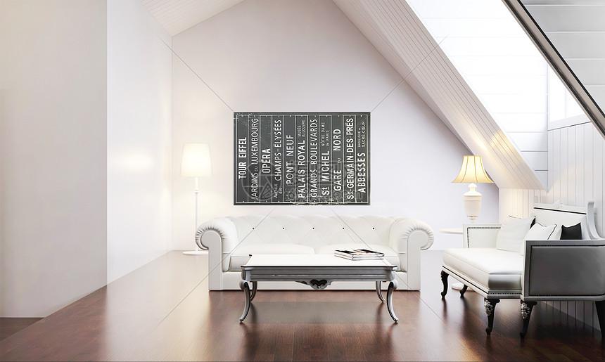 北欧客厅室内家居图片
