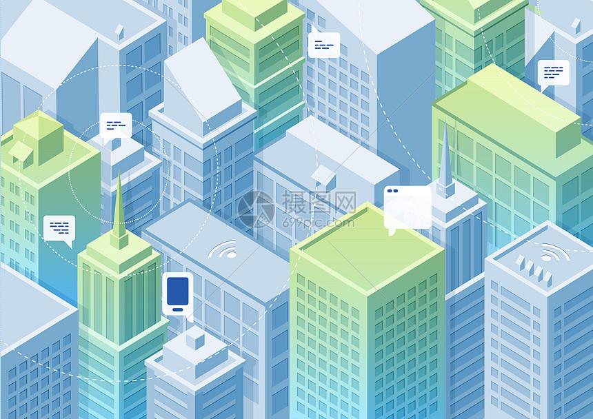 信息城市立体背景图片
