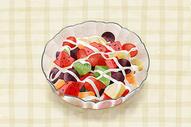 水果沙拉手绘插画图片