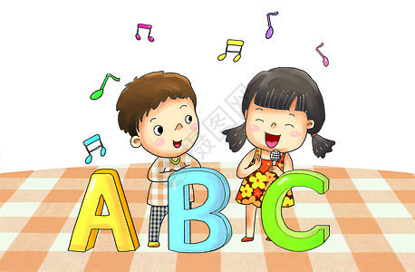 学英语唱歌图片