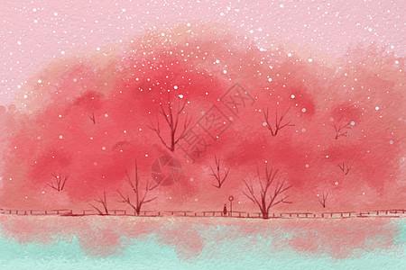 唯美粉色壁纸图片