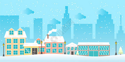 雪景城市图片