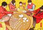 春节包饺子图片