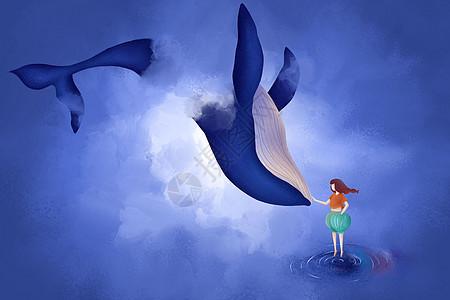 云端的蓝鲸图片